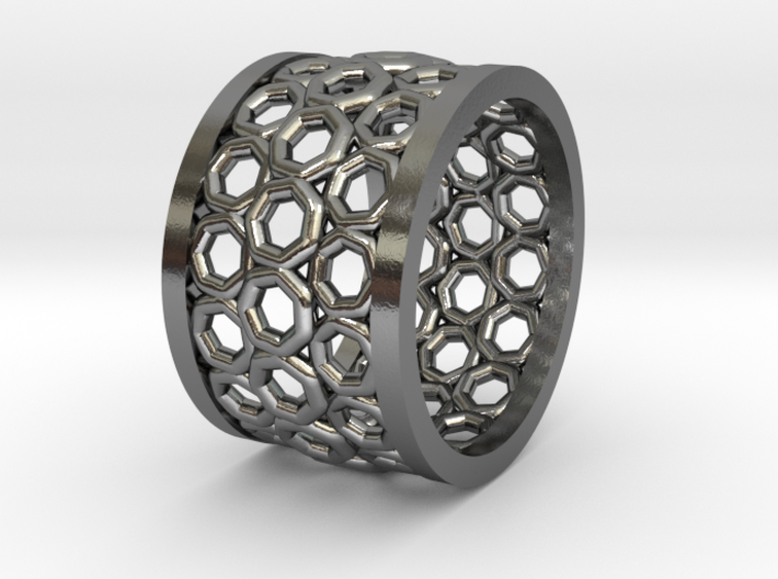 GBW8 Silver Wide Band 3d printed