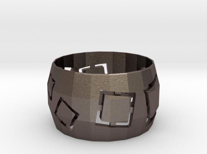 Squares Ring 3d printed
