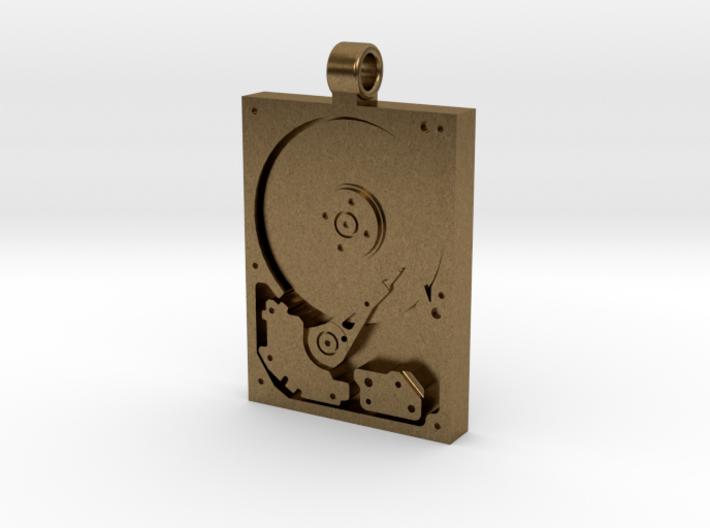 Hard Drive Pendant 3d printed
