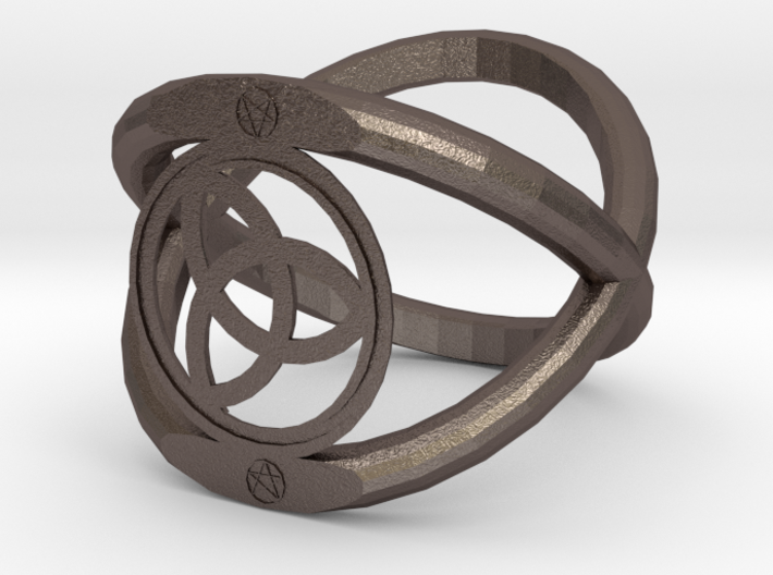 Wiccan Power Of Three Ring 3d printed