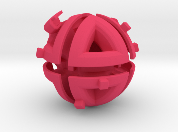 Octahedral holonomy maze 2 3d printed
