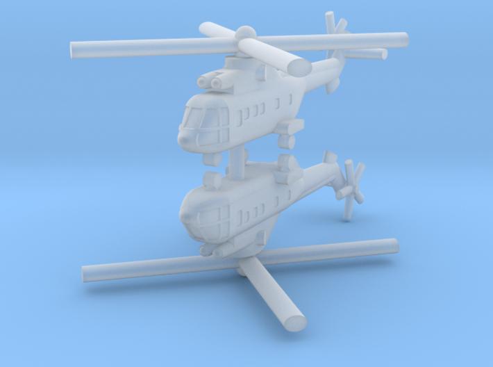 1/700 AS-332 Super Puma (x2) 3d printed