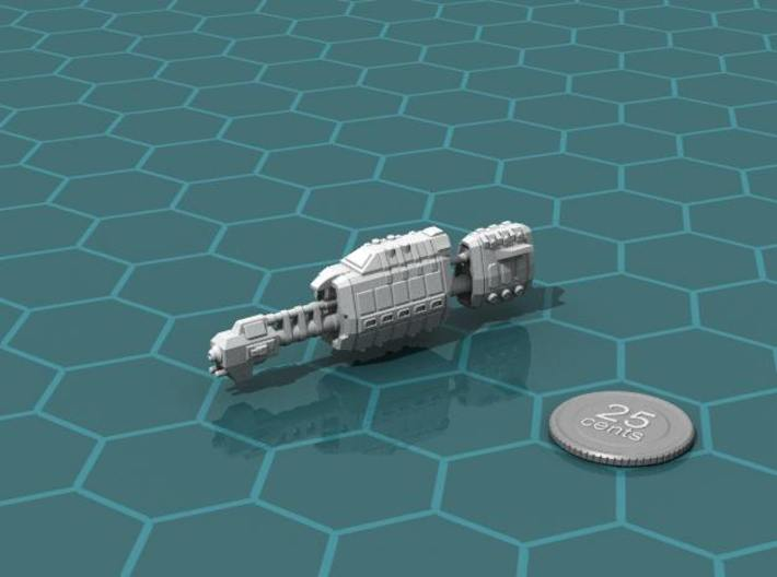 USASF Auxiliary Carrier 3d printed Render of the model, with a virtual quarter for scale.