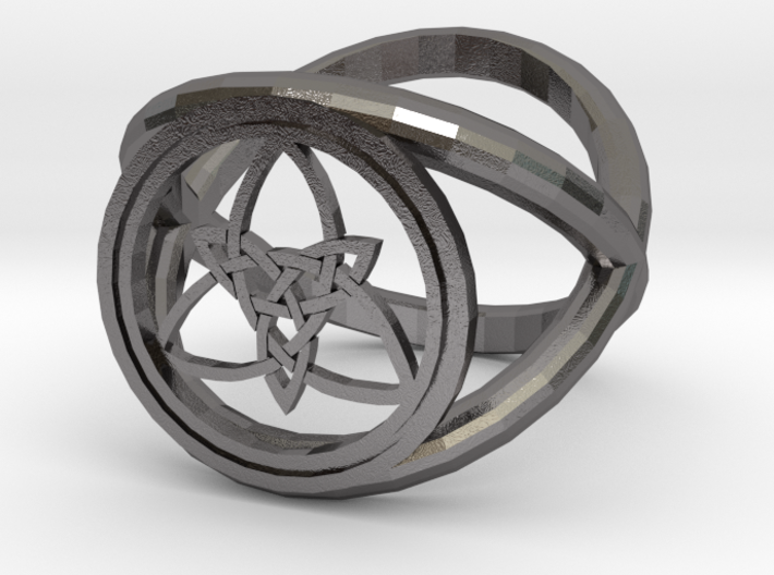 Wiccan Power Of Three Ring (Model Two) 3d printed