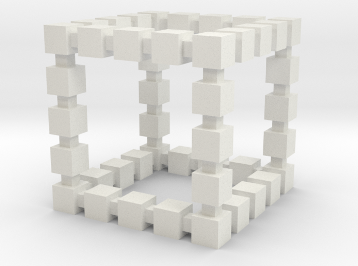 Blocky Cube 3d printed