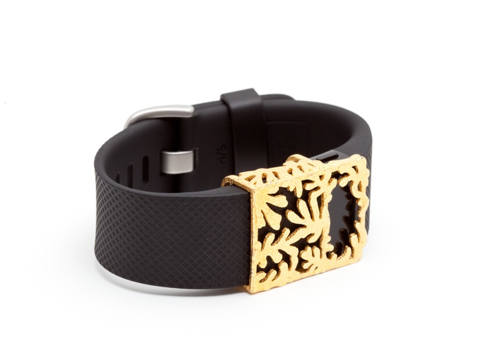 Steel Matisse slide for Fitbit Charge & HR 3d printed