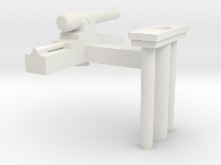 Gun Boat Gun parts 3d printed