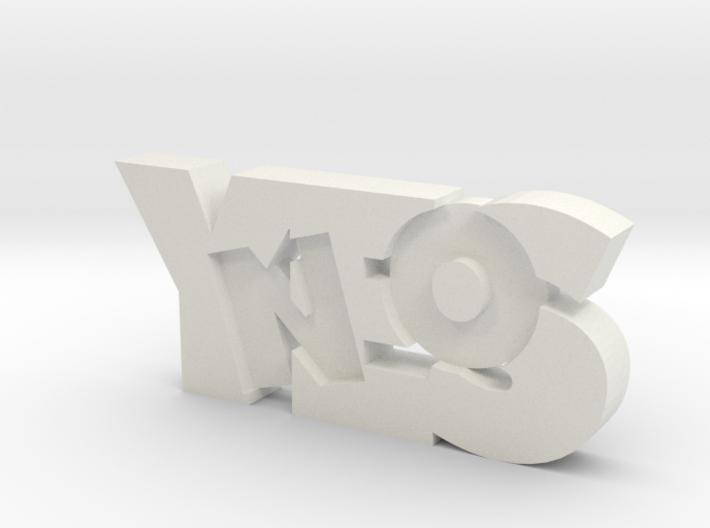 yesno 3d printed