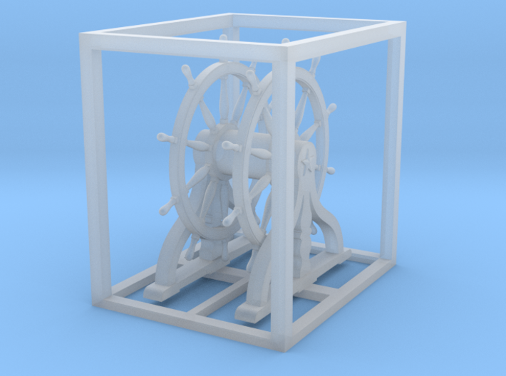 1/72 Ship Wheel (Helm) for USS Constitution 3d printed