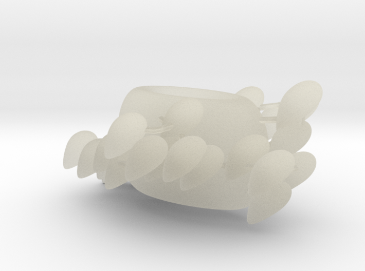 A shoal around a bead 3d printed