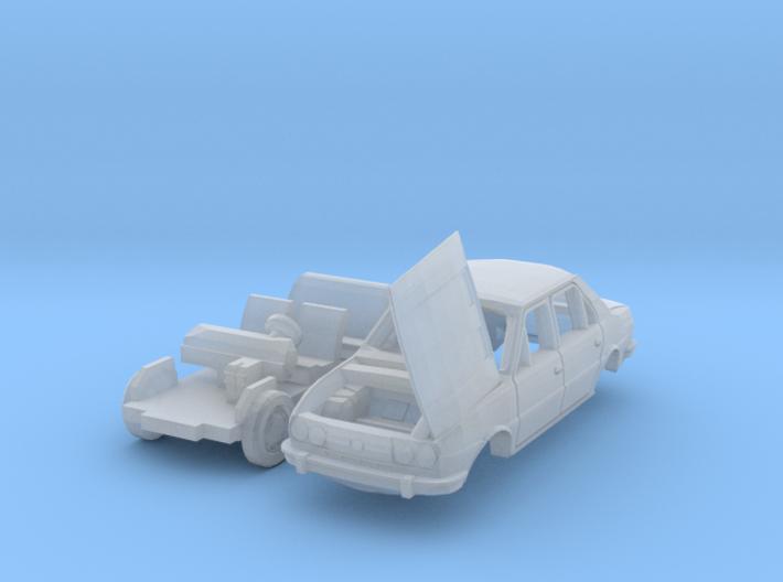 Škoda 120 LS mit offenem Kofferraumdeckel (TT) 3d printed