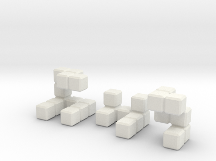 The Seldom Seen Cube 3d printed