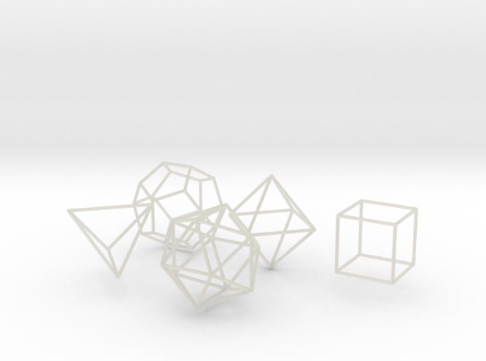 Platonic Wireframe 3d printed