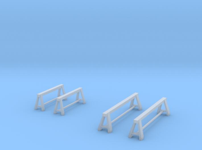 1/64 steel trestle / tréteaux 3d printed