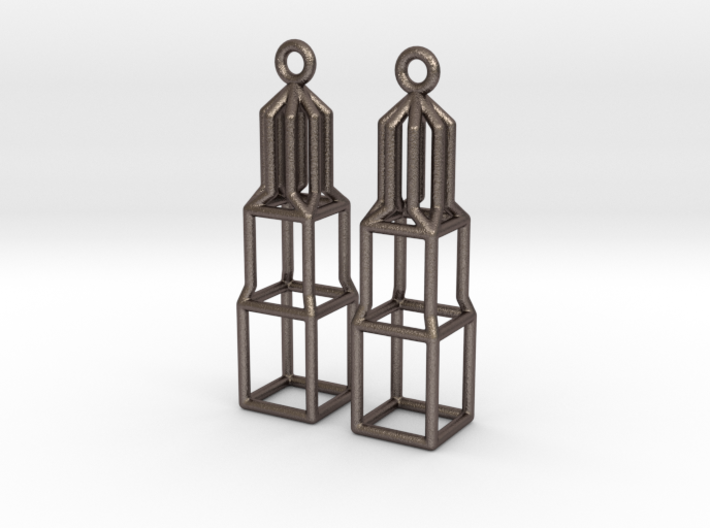 Metal Dom Earrings (Small) 3d printed
