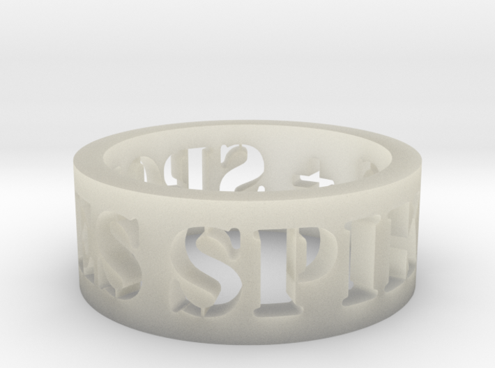 spikes and spokes ring 3d printed