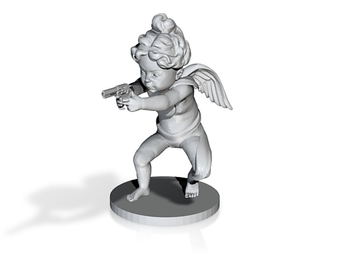 Desperate Angel 16cm NEW base 3d printed