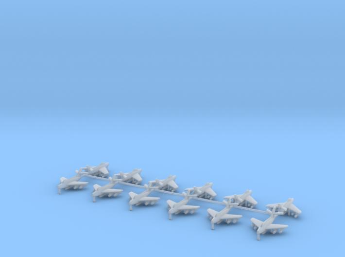 1/700 F-84F Thunderstreak (x12) 3d printed