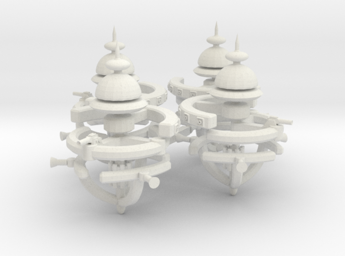 5 Small Defense Space Station 4x 3d printed