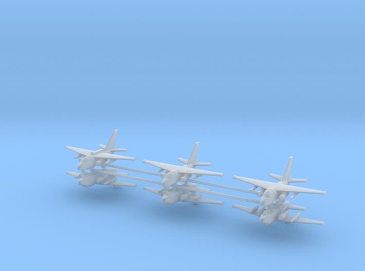 1/700 S-3 & ES-3A Viking (x6) 3d printed