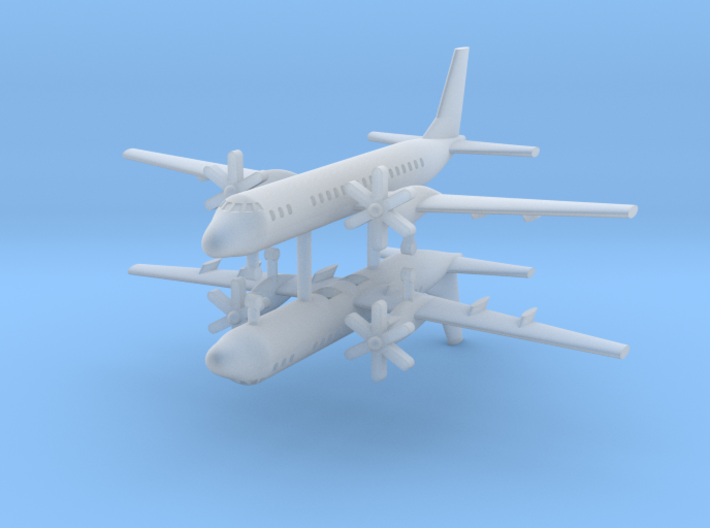 1/700 Ilyushin IL-114 Commercial Aircraft (x2) 3d printed