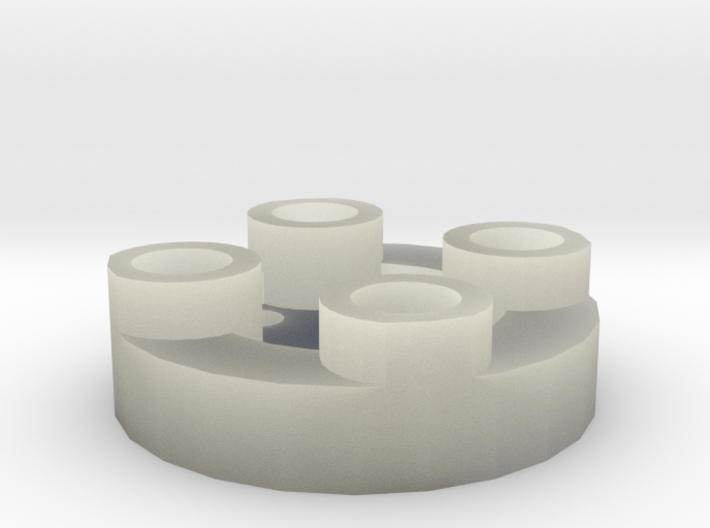Sewable Disc Button - Base Design 3d printed