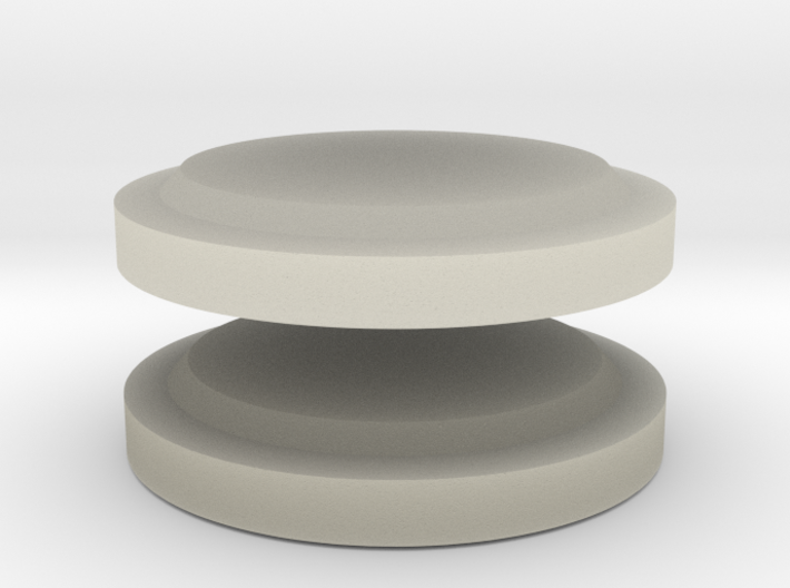 Lenses for gasmask 3d printed