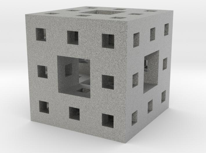 Menger Sponge Pendant 3d printed New fractal on the block--math at its best