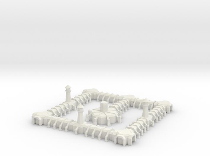 10 Medium Gothic Outpost 3d printed