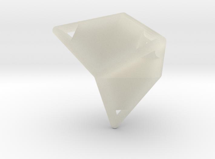 d12 caltrop blank 3d printed