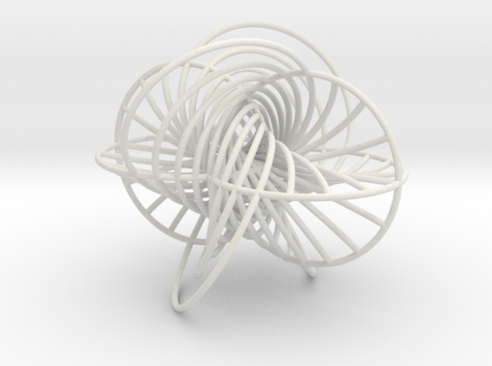 Hopf Fibration tubes 3d printed