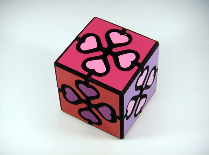 Valentine Cube Puzzle 3d printed Pattern