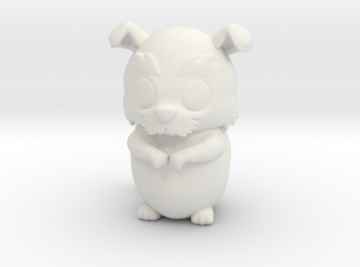 Tascha the dog (3mm) 3d printed