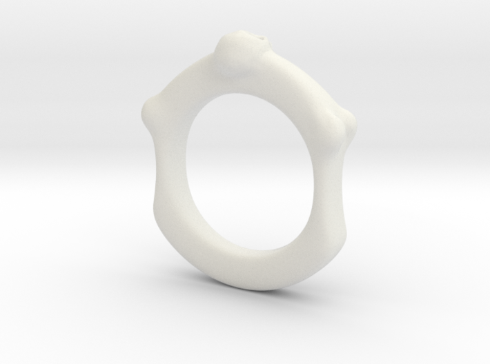Skull and Bone Ring aprox size 6.5 3d printed