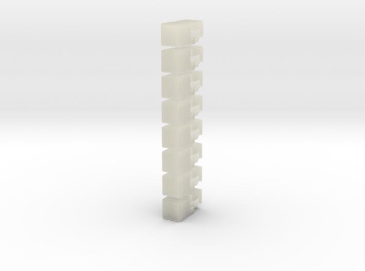 2x2x4 Rubiks Cube 3d printed