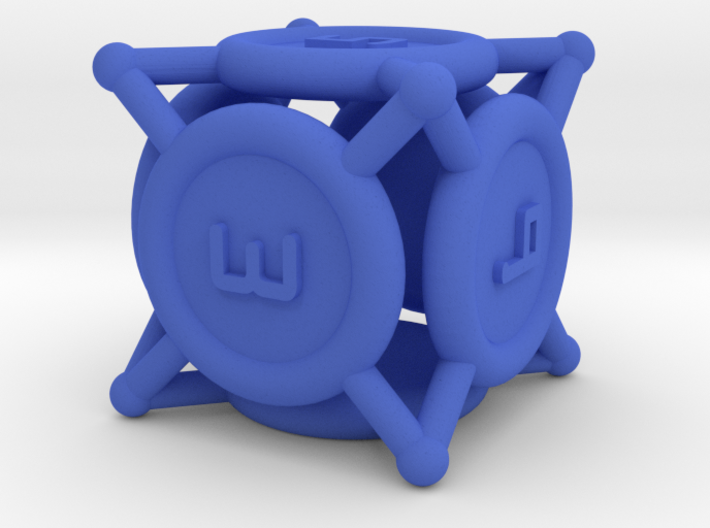 """d6 """"Spikes"""" 3d printed"""