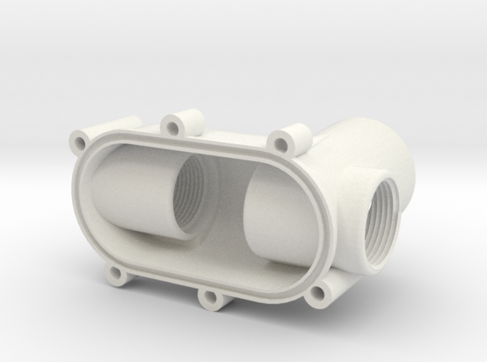 Valve cover, bottom, for cistern, with iso valve 3d printed