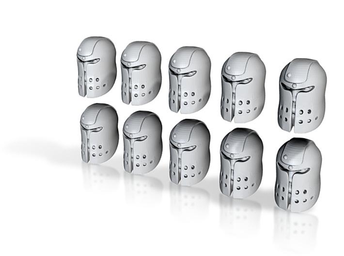 10 28mm Large Ogre Helmets 3d printed