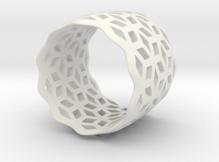 geometric ring 7 3d printed