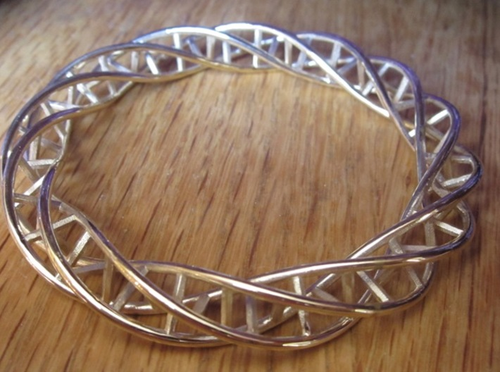 Double DNA Bracelet (63 mm) 3d printed
