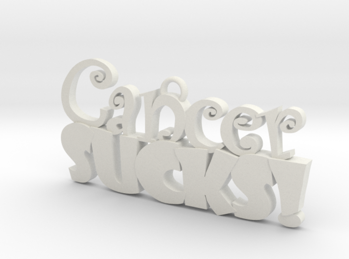 Cancer Sucks 3d printed