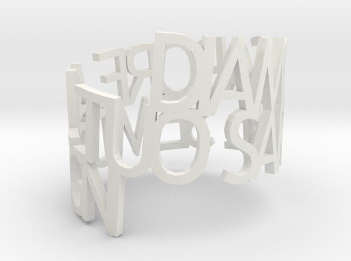 Ring SEMIDISEGNI 3d printed