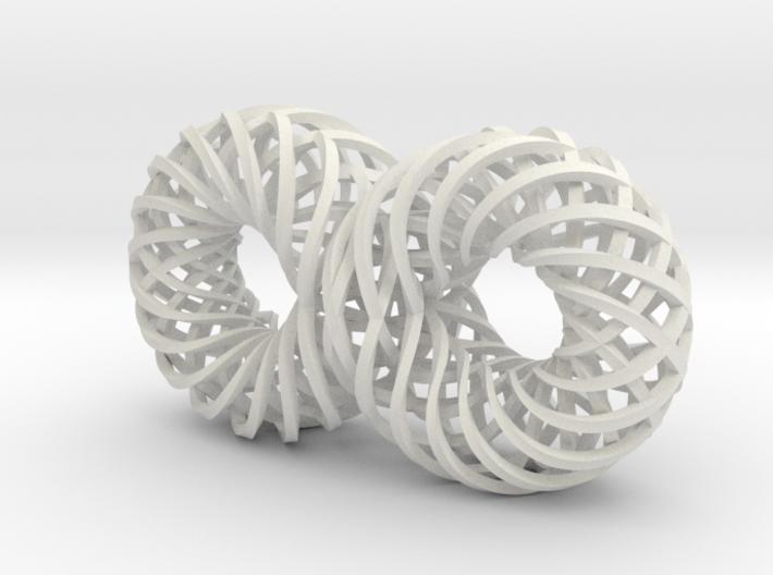 Quadruple Spiralling Infinity - rect 3d printed