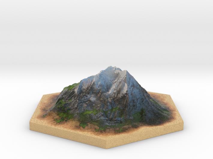 Catan_mountain_hexagon 3d printed