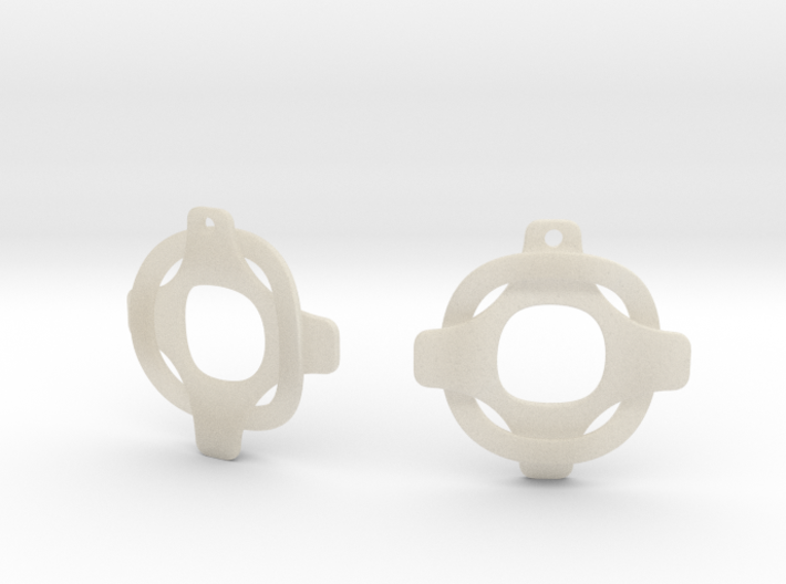 Earrings 2 entwined 3d printed