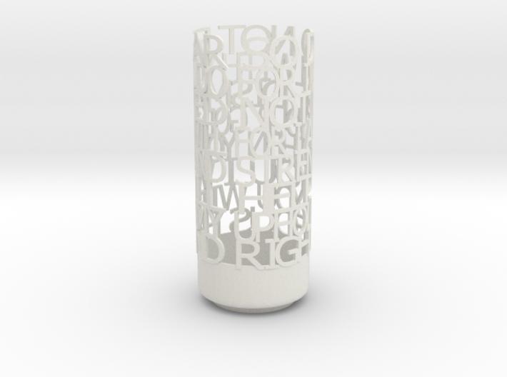 Light Poem terino 3d printed