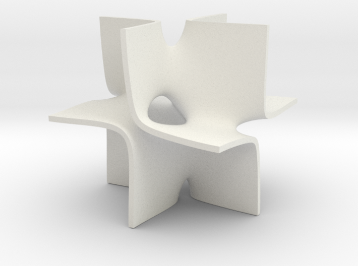 A holes2 isosurface 3d printed