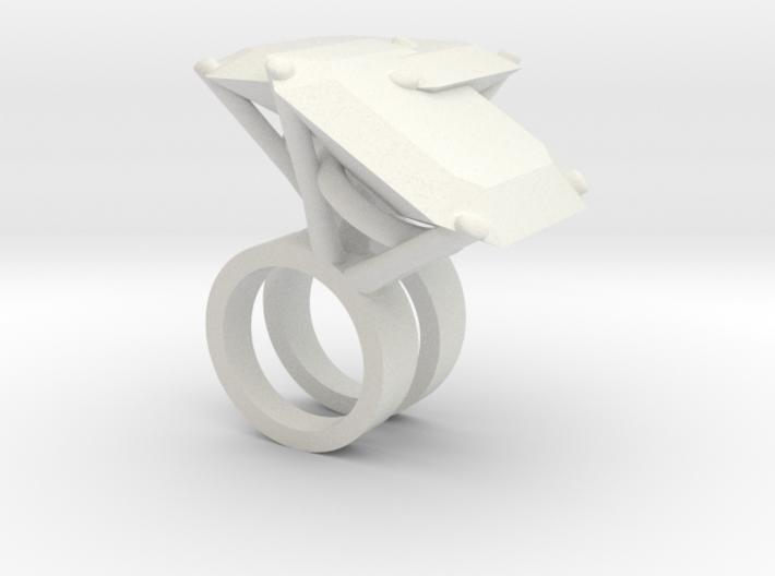 Mutant Ring no.4 3d printed