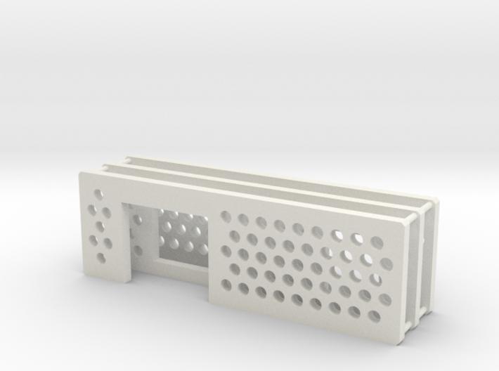 arduino enclosure ends: main, ethernet, db9 3d printed