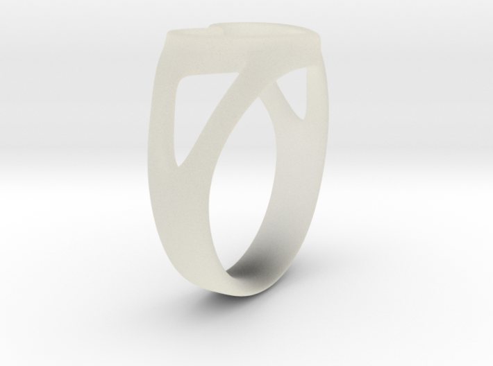 Caterina Heart ring 3d printed